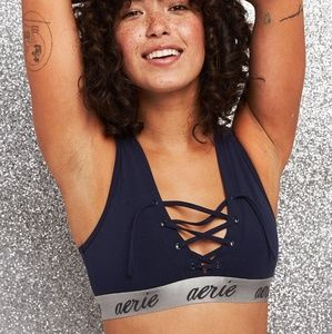 Aerie tomboy lace up bralette